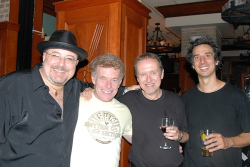 Almost all the band-David Richards, Dave Keyes, George Naha and Roger Cohen