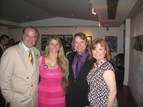 Stewart F. Lane, Bonnie Comley,Jay Johnson and Sandi Johnson