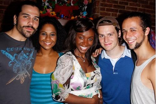 Steel Burkhardt, Nicole Lewis, Saycon Sengbloh, Jonathan Groff and Anthony Hollock Photo