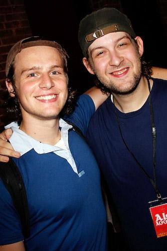 Jonathan Groff and Andrew Kober