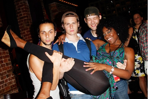 Anthony Hollock, Jonathan Groff, Andrew Kober and Patina Renea Miller