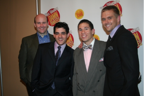 Jay Lusteck (Lynch), David Baum (Ensemble), Jon Rua (Ensemble) and Adam Perry (Ensemble)
