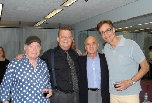Hal Hackady, James Morgan(York Producing Artistic Director) Larry Grossman and Howard McGillin