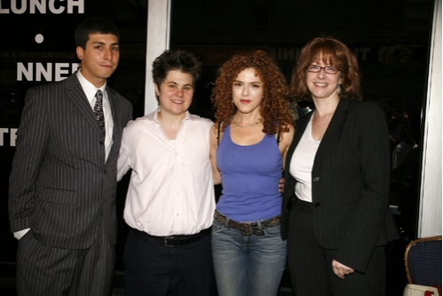 Bernadette Peters with John Phillips (Executive Direcror League of Humane Voters), Yetta Kurlaud, and Linda B. Rosenthal (Member of Assembly 67th District)