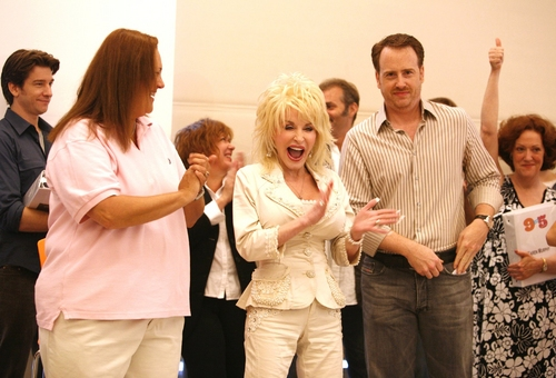 Patricia Resnick, Dolly Parton and Robert Greenblatt