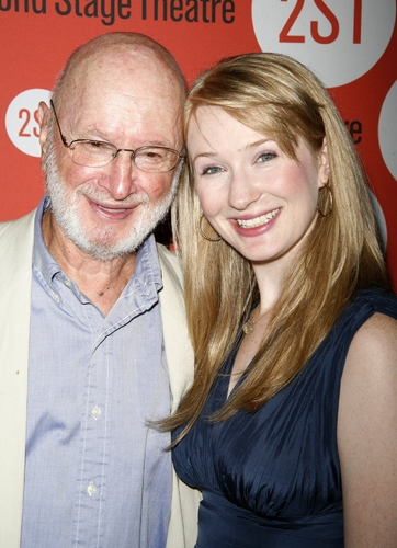 Halley Feiffer and Dad Jules Feiffer