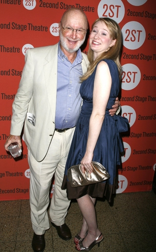 Halley Feiffer and Dad Jules Feiffer at Some Americans Abroad - After Party