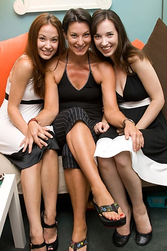 Sierra Boggess,Tara Young (Associate Choreographer), and Summer Boggess