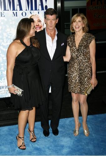 Christine Baranski & Pierce Brosnan, and Keely Shaye Smith  Photo