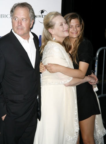 Meryl Streep with her husband Don Gummer and daughter