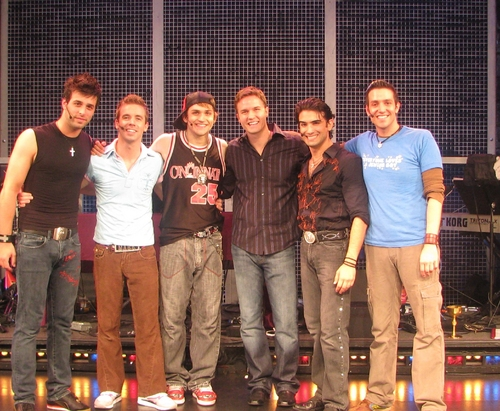 Michael Kadin Craig, Ryan Ratlif, Neil Haskell,Scott Porter, at Scott Porter Of 'Friday Night Lights' Visits Altar Boyz