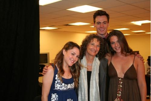 Dana Stiengold (NYCLU Founding Member), Donna Lieberman (NYCLU Exectutive Director), Erich Bergen (NYCLU Founding Member) and Liana Stampur (NYCLU Founding Member)
