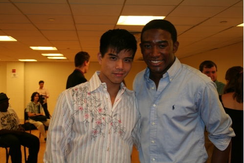 Telly Leung (upcoming Godspell) and Andrew Arrington (upcoming Godspell)