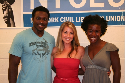 Joshua Henry (upcoming Godspell), Morgan James (upcoming Godspell) and Uzo Adubu (upcoming Godspell)