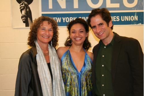 Donna Lieberman,Jen Bender and Host/Musical Director Seth Rudetsky