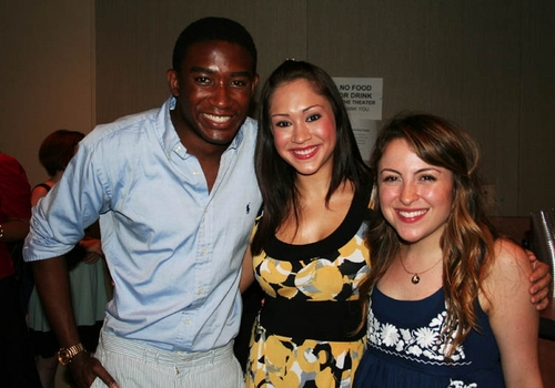 Andrew Arrington (upcoming Godspell), Diana DeGarmo (upcoming Godspell) and Dana Steingold (upcoming Godspell)