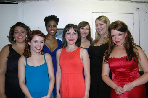Jennifer LaMonica, Danielle Simone Roundtree, Lucy Horton, Shanyn Trammell, Dawn Cantwell, Jenna Dallacco, Karen Myatt  at Broadway's Rising Stars II at Town Hall