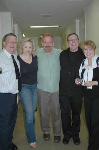 James Morgan (Producing Artistic Director of The York Theatre), Sally Wilfert, Matthew Ward, Peter Napolitano, Nancy Dussault
