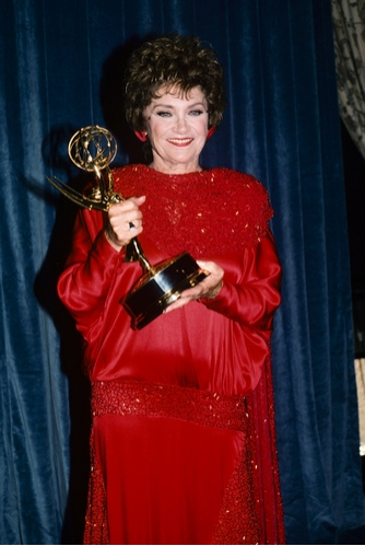 Estelle Getty at the Emmy Awards, 1988