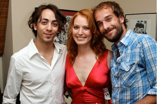 Jeff Fiorello, Alicia Witt, and Josiah Early Photo