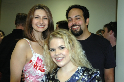 Sara Wordsworth, Hannah Laird and Adam Matta