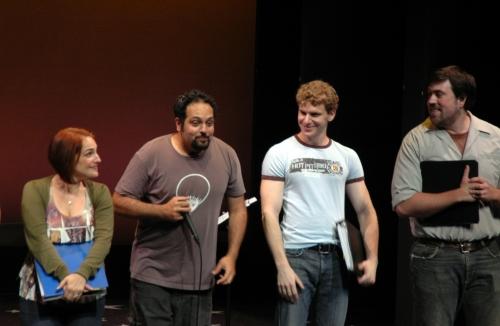 Denise Summerford, Adam Matta, Adam Overett, Ryan Thomas Dunn  at York Theatre Company Presents 'In Transit'