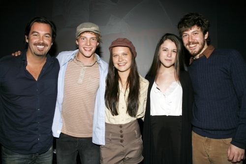 Hunter Parrish, Lauren Pritchard, Alexandra Socha and John Gallagher, Jr.