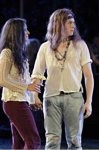 Caren Lyn Manuel and Jonathan Groff