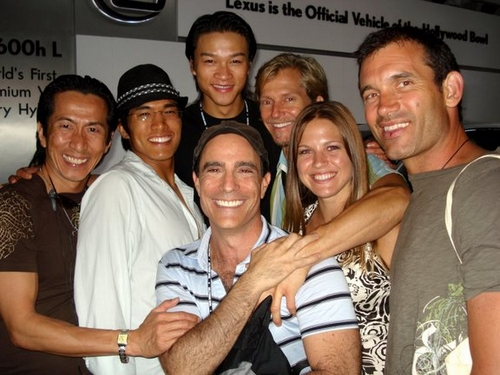 Ethan LePhong and Joshua Finkel with friends and family