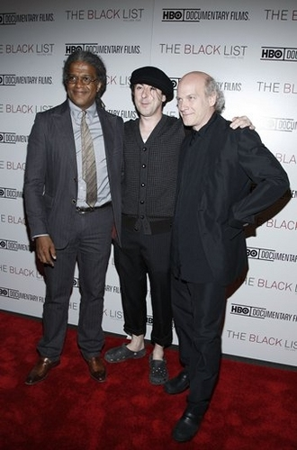Elvis Mitchell, Alan Cumming and Timothy Greenfield-Sanders
