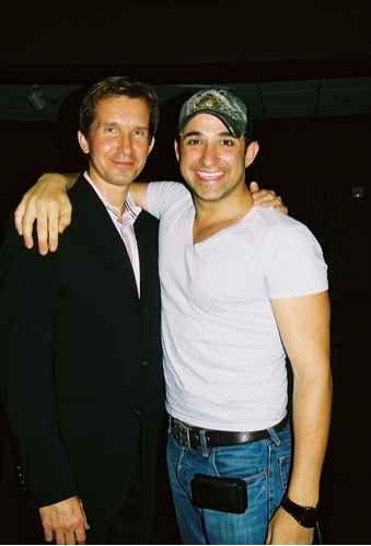 NY choreographer Stas' Kmiec' with LA actor Scott Damian (Genie)