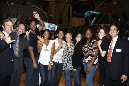 Photo Coverage: The Cast of RENT Rings The NYSE Opening Bell