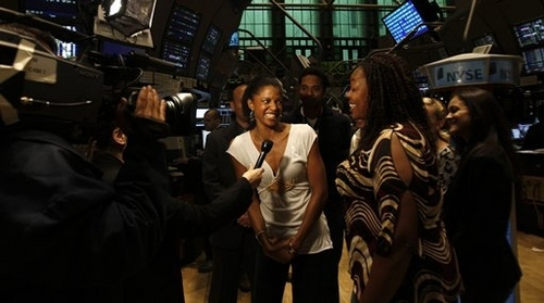 Photos: The Cast of RENT Rings The NYSE Opening Bell