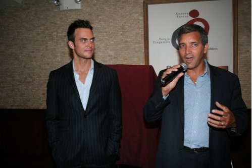 Cheyenne Jackson and Tony DiNapoli's General Manager Bruce Dimpflmaier