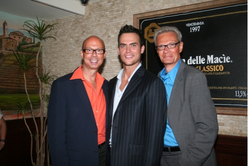 Richie Ridge, Cheyenne Jackson and Preston Ridge