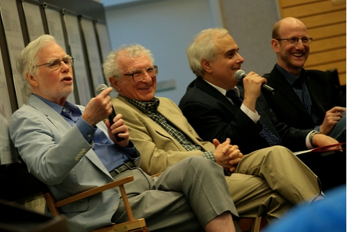 Frank Gilroy, Sheldon Harnick, Peter Filichia, and Doug Cohen