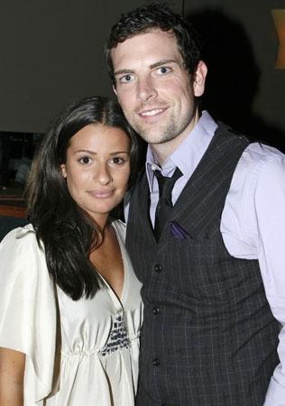 Lea Michele and Chris Mann