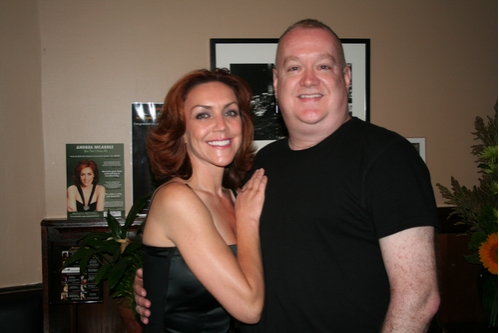 Andrea McArdle and Michael Barbieri (Technical Director Metropolitan Room)