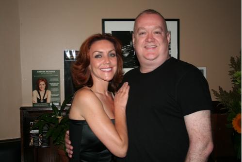 Andrea McArdle and Michael Barbieri (Technical Director Metropolitan Room) Photo