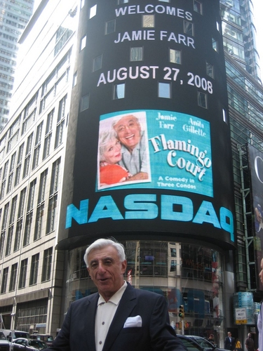 Photo Flash: Jamie Farr and Anita Gillette of 'Flamingo Court' Ring NASDAQ Bell