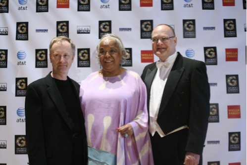 GMCLA Executive Director Hywel Sims, Della Reese and GMCLA Artistic Director/Conductor Bruce Mayhall
