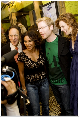 Allan S. Gordon, Daphne Rubin-Vega, and Anthony Rapp