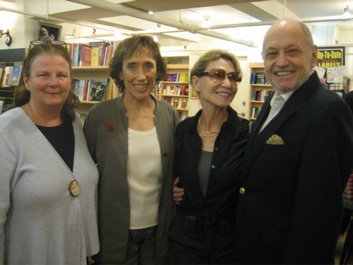 Carolyn Rossi Copeland, Susan Birkenhead, Barbara Siman and husband Charles Strouse