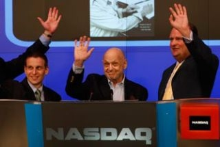 Photo Flash: Charles Strouse Rings the NASDAQ Closing Bell