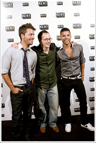 Trey Ellett, Jim Poulos and Wilson Cruz