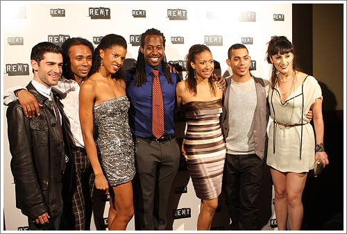 Adam Kantor, Shaun Earl, Renee Elise Goldsberry, Marcus Paul James, Tracie Thoms, Justin Johnston and Eden Espinosa