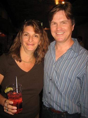 Production photographer Carol Rosegg with librettist Jeffrey Jackson