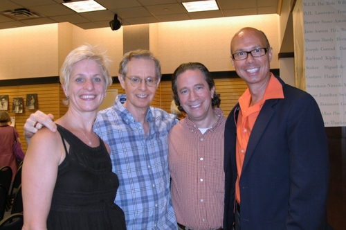 Kelli Barclay, Randy Skinner (Choreoghrapher) Michael Lavine, and Richie Ridge (Broadway Beat)
