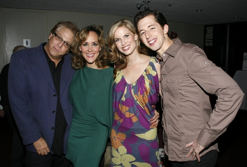Stuart Ross, Janine LaManna, Josh Grisetti and Allison Spratt at 'Enter Laughing': Curtain Call and After Party