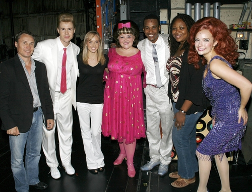 Valeri Liukin, Ashley Parker Angel, Nastia Liukin, and Annie Funke